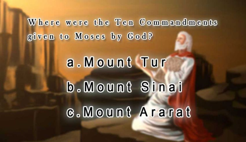 where-were-the-ten-commandments-given-to-moses-by-god